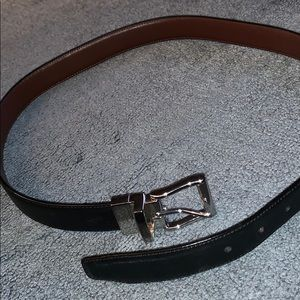 Polo reversible leather belt